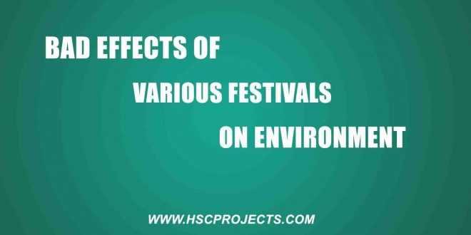 Bad Effects of Various Festivals on Environment - HSC Project