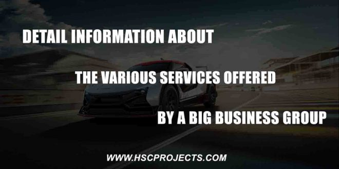 services offered by a big business, Detail Information About The Various Services Offered By a Big Business Group, HSC Projects
