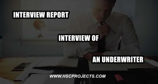 interview of an underwriter, Interview Report – Interview of an Underwriter, HSC Projects, HSC Projects
