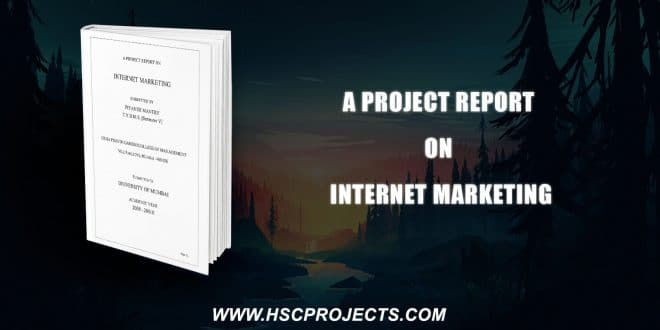 , A Project Report On Internet Marketing, HSC Projects, HSC Projects