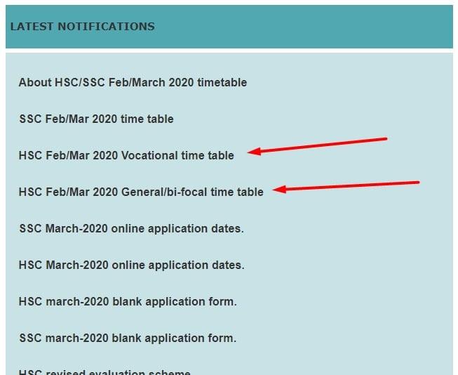 Maharashtra Board HSC Time Table 2020, Maharashtra Board HSC Time Table 2020 for Class 12 Exam, HSC Projects, HSC Projects