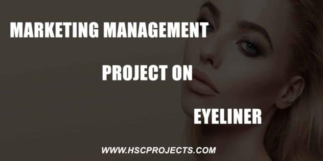 Marketing Management Project on Eyeliner – CBSE Class 12, HSC Projects