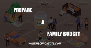 , Prepare a Family Budget, HSC Projects, HSC Projects