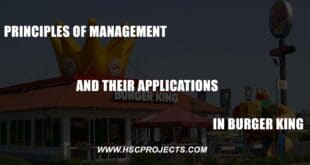 , Principles of Management and their Application in Burger King, HSC Projects