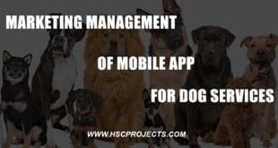 , Marketing Management of Mobile App for Dog Services, HSC Projects